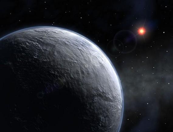 OGLE-2005-BLG-390L b. Иллюстрация ESO