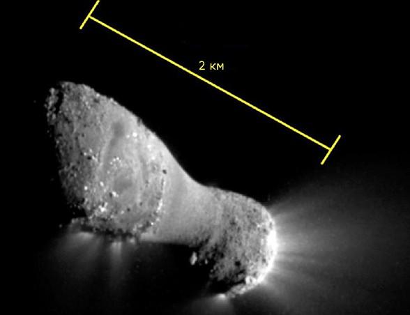 Ядро кометы Хартли 2. Фото NASA / JPL-Caltech / UMD.