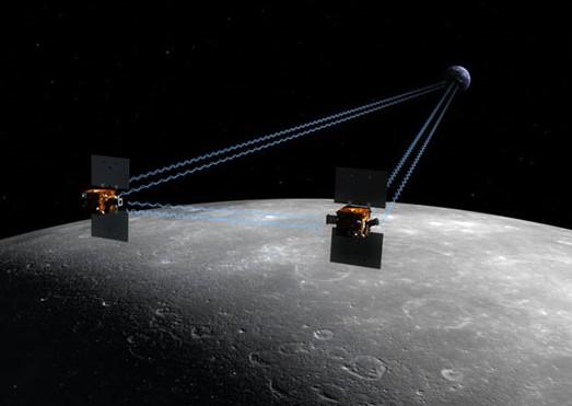 Миссия GRAIL. Иллюстрация NASA