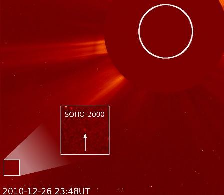 Юбилейная двухтысячная комета. Фото NASA/ESA/SOHO