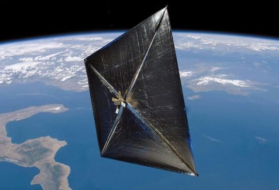 Художественная концепция солнечного паруса. Иллюстрация NASA