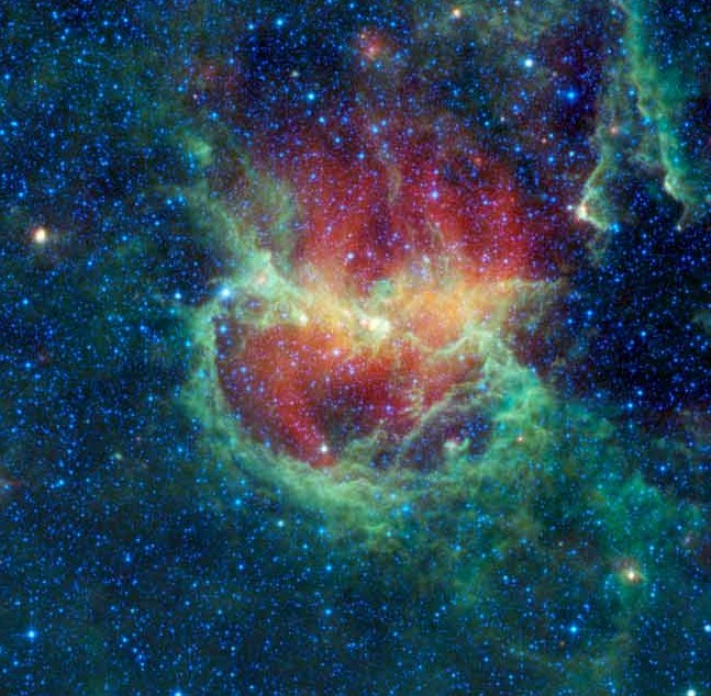 Туманность Бегущий Цыпленок (IC 2944). Фото NASA/JPL-Caltech/WISE Team