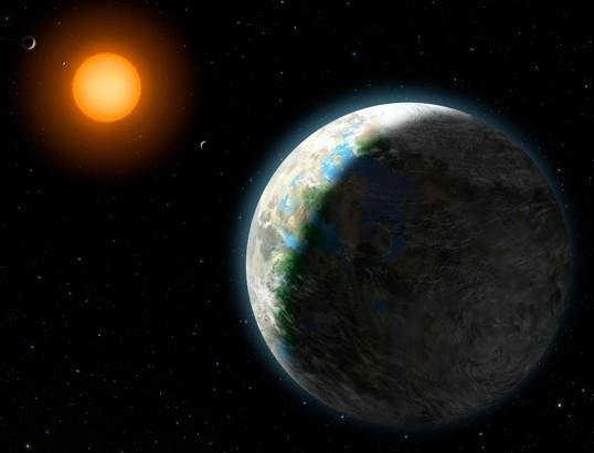 Gliese 581g . Иллюстрация Zina Deretsky, National Science