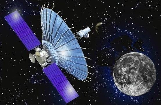 """Модель астрофизической лаборатории """"РадиоАстрон"""". Иллюстрация с сайта Роскосмоса"""