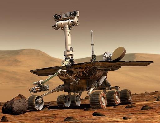 Марсоход Spirit. Иллюстрация NASA.