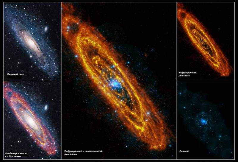 Рождение и смерть звёзд в галактике Андромеда (3 фото)