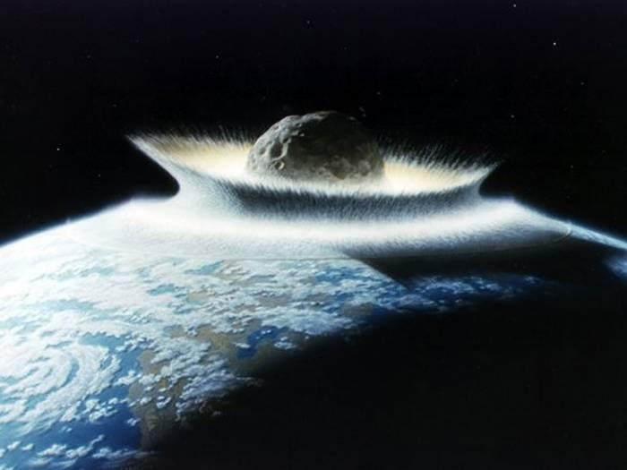Вторжение метеорита глазами художника. Иллюстрация: NASA/Don Davis.