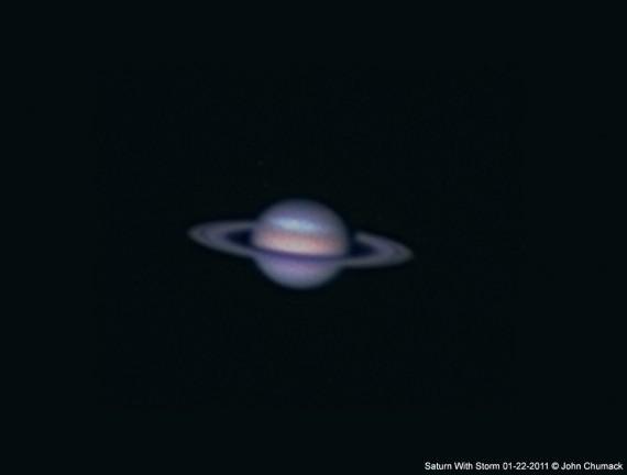 Перед нами одна из последних съемок Сатурна, которое выполнил астроном Джон Чумак 22 января 2011года. Фото John Chumack