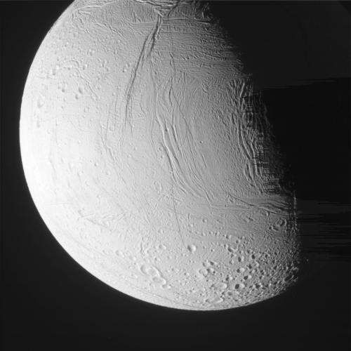 Энцелад. Фото NASA/JPL/SSI