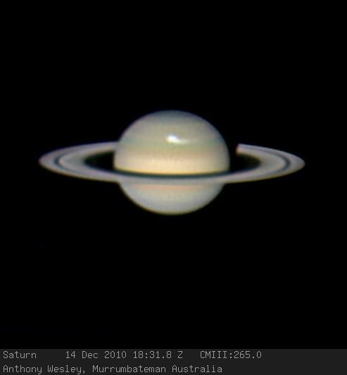 Фотография Сатурна выполненная 14 декабря 2010 годаЭнтони Уэсли. Фото Anthony Wesley