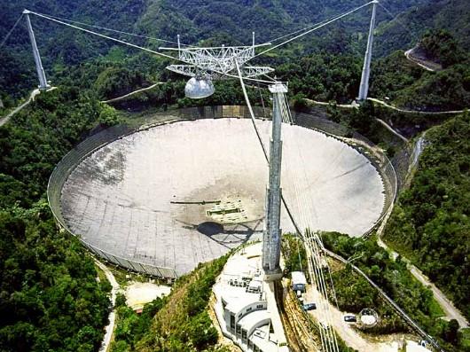 300 метровый телескоп обсерватории «Аресибо».