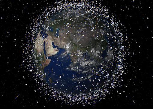 Космический мусор вокруг нашей планеты. Иллюстрация NASA
