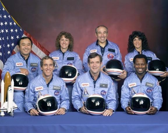 Экипаж космического челнока «Челленджер». Фото NASA