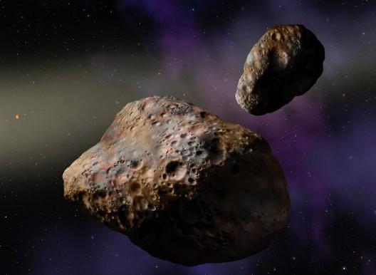 Астероиды. Иллюстрация NASA