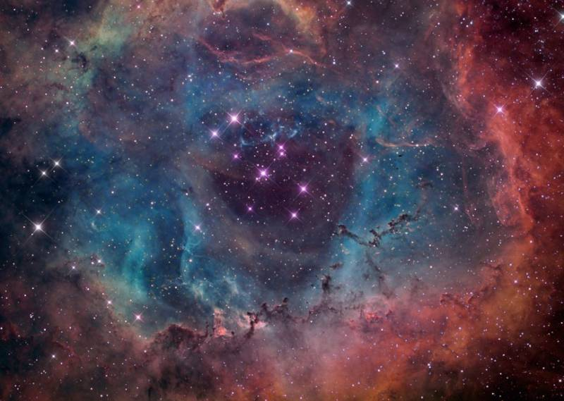 Туманность Розетка (NGC 2237). Фото NASA / Brian Lula
