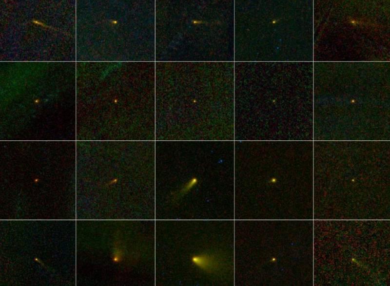 В рамках программы NEOWISE было обнаружено 20 новых комет. Фото NASA/JPL-Caltech/UCLA
