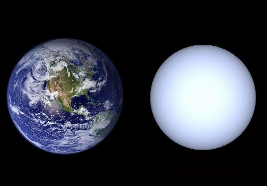 Сравнительные размеры Земли и белого карлика. Иллюстрация NASA