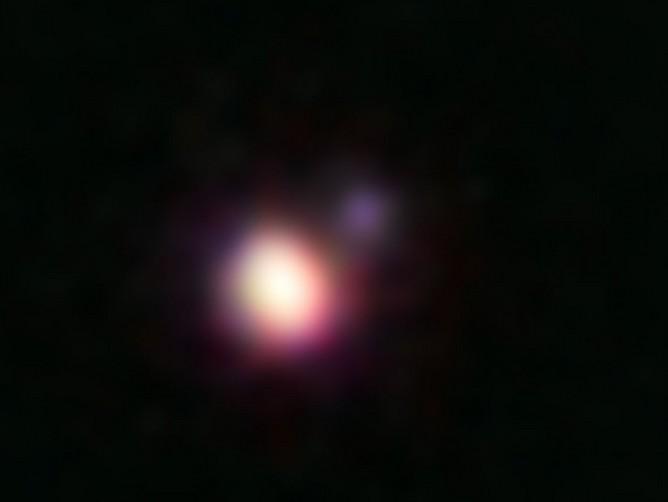 Пара коричневых карликов CFBDSIR 1458+10. Образ получен телескопом Keк II на Гавайях с применением фильтров. Фото Michael Liu, University of Hawaii