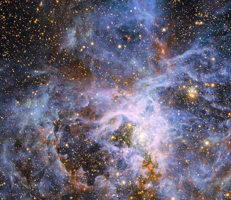 Туманность Тарантул. Фото ESO