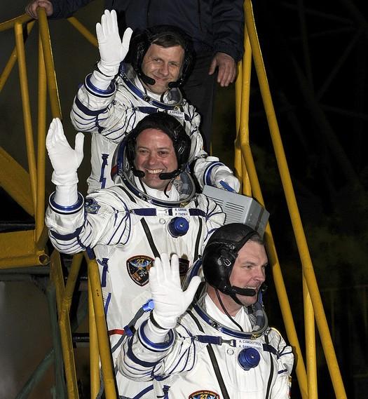 Экипаж «Юрия Гагарина». Фото NASA/Carla Cioffi
