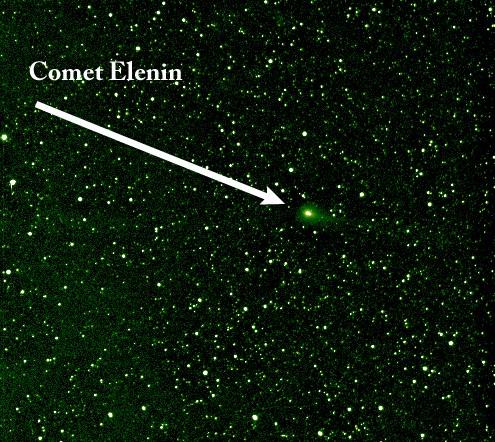 Комета Еленина. Фото NASA