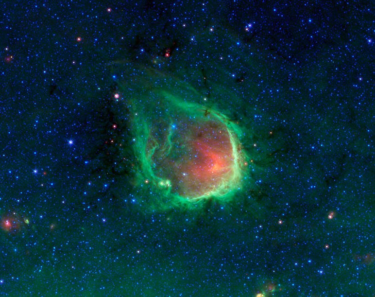 Туманность RCW 120. Фото NASA/JPL-Caltech