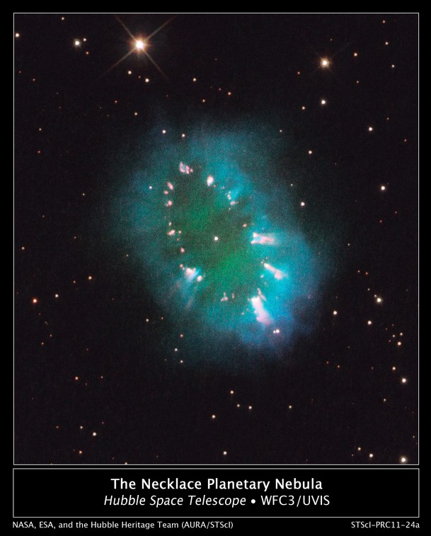 Туманность Ожерелье. Фото NASA, ESA, and the Hubble Heritage Team (STScI/AURA)