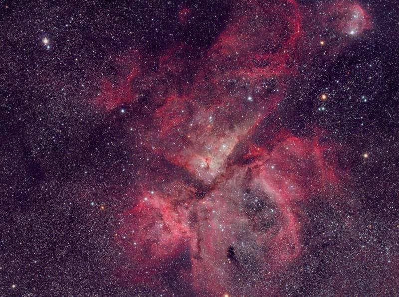 Туманность Киля (NGC 3372). Фото ESO