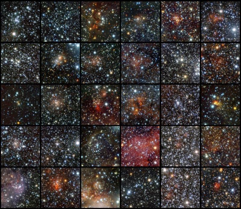 Новые звездных скопления. Иллюстрация ESO/J. Borissova