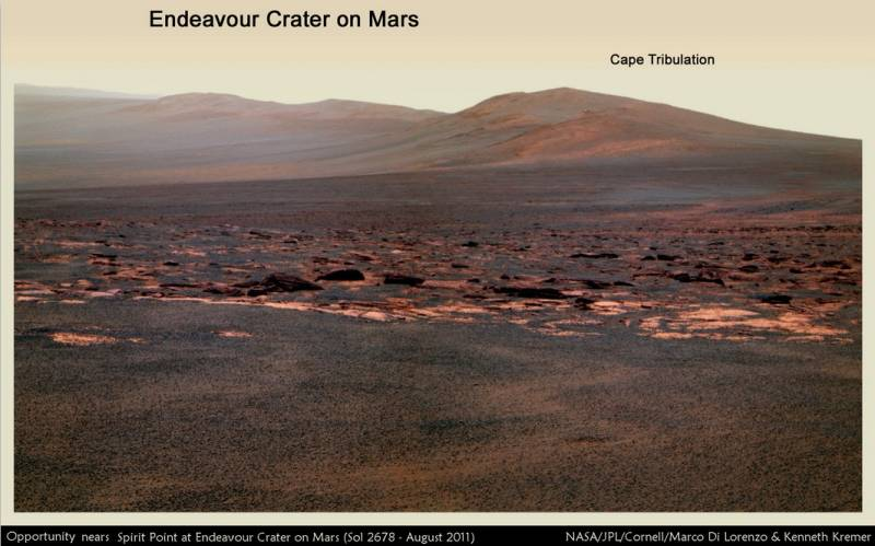 Цель путешествия практически достигнута марсоходом Opportunity