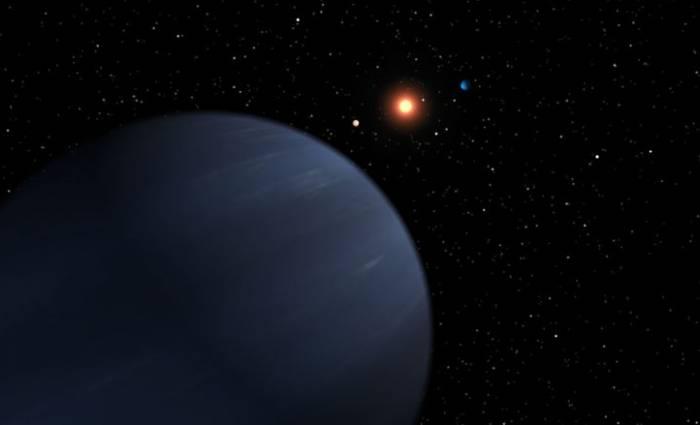 Система звезды 55 Cancr глазами художника. Фото NASA/JPL-Caltech