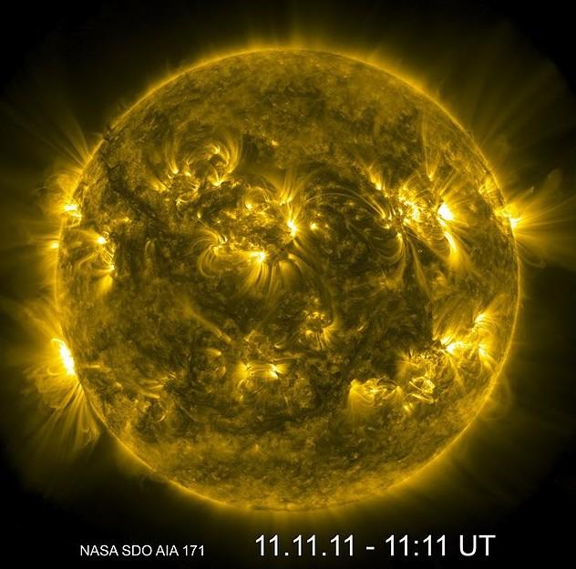 Лик Солнца 11.11.11.в 11.11 UT. Фото NASA