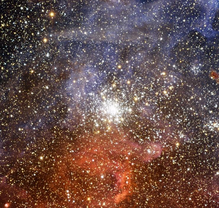 Рассеянное звездное скопление NGC 2100. Фото ESO