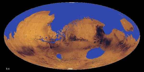 Возможный вид поверхности древнего Марса 3,5 миллиарда лет назад. Иллюстрация University of Colorado