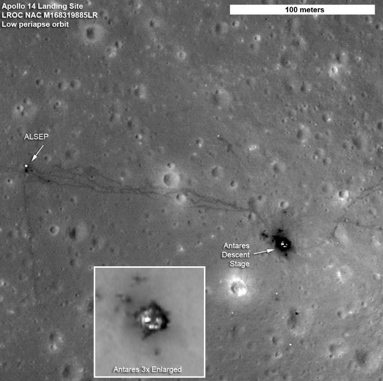 Район посадки «Apollo-14». Фото NASA/GSFC/Arizona State University