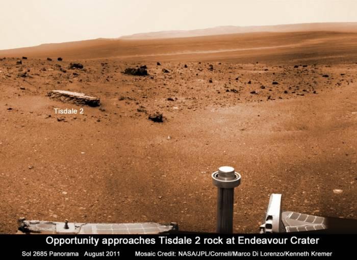 Общий вид на кратер Индервор с Tisdale 2. Фото NASA/JPL/Cornell/Marco Di Lorenzo/Kenneth Kremer