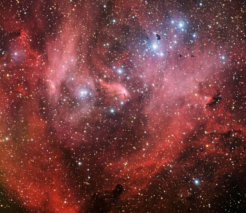 Туманность IC 2944 (Бегущий цепленок). Фото ESO