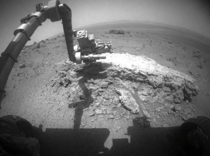 Opportunity проводит исследование Tisdale 2. Фото NASA/JPL-Caltech