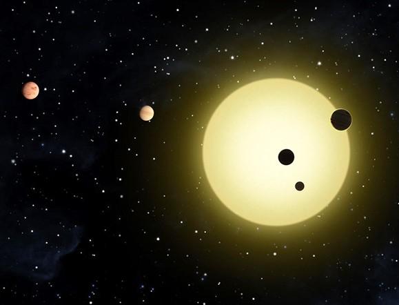 Система Kepler-20. Иллюстрация Tim Pyle/NASA.