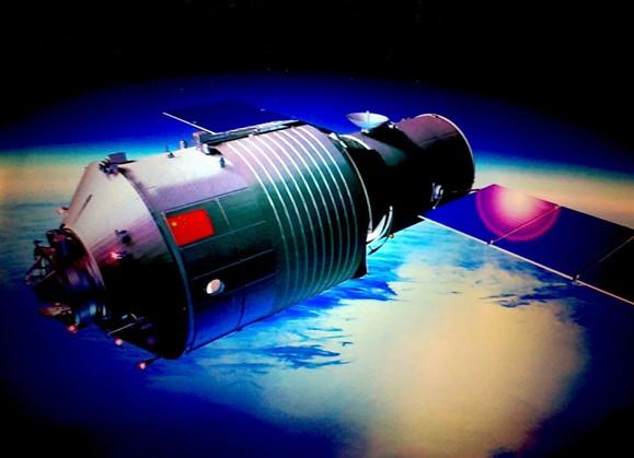 «Тяньгун-1». Иллюстрация Mark Wade / Encyclopedia Astronautica