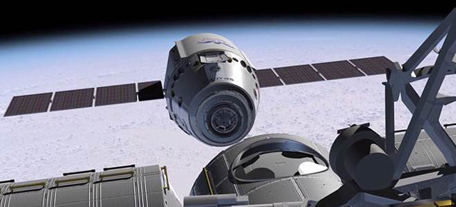 SpaceX Dragon. Иллюстрация NASA