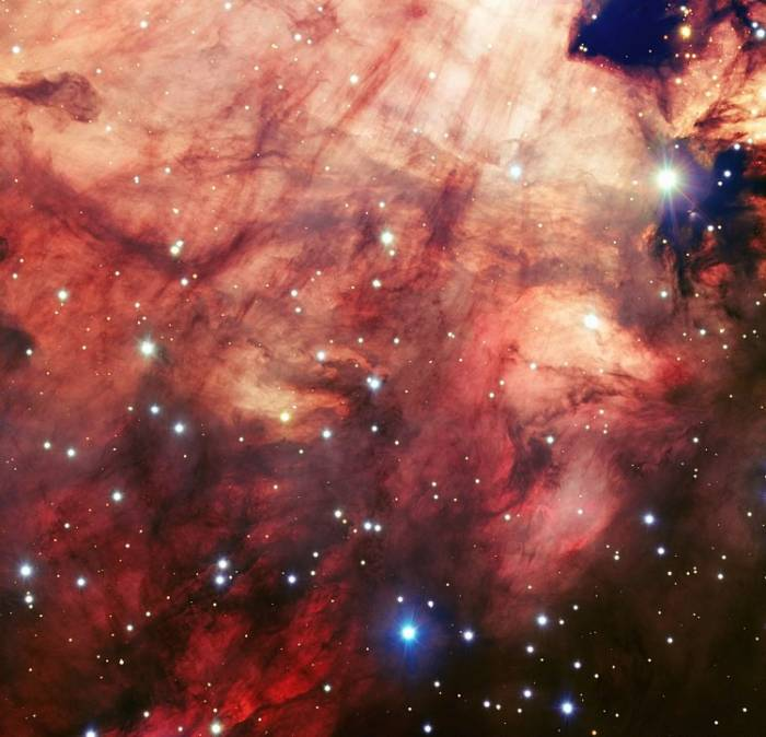 Туманность Омега. Фото ESO