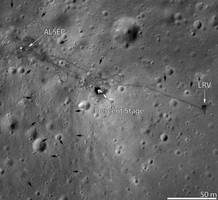 Место посадки Аполлона-15. Фото NASA/GSFC/Arizona State University