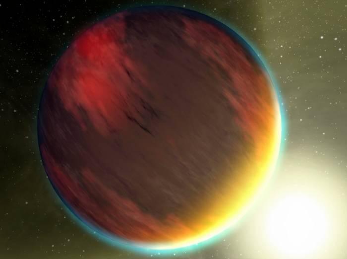 Горячий юпитер. Иллюстрация NASA/JPL-Caltech/T. Pyle (SSC)