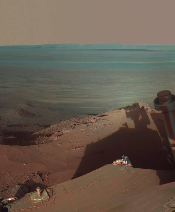 Снимки кратера Индевор, сделанные марсоходом «Opportunity»