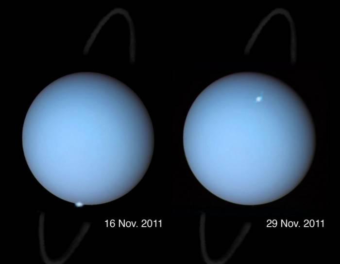 Полярные сияния Урана.