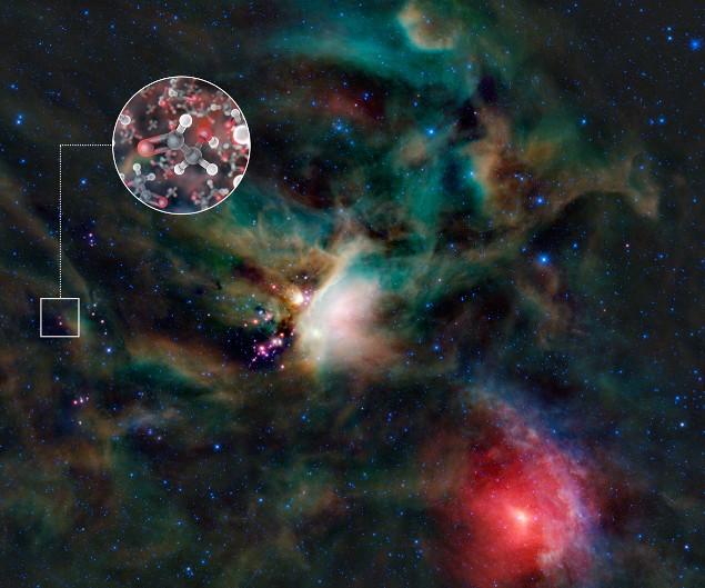 На иллюстрации место нахождения двойной звезды IRAS 16293-2422.