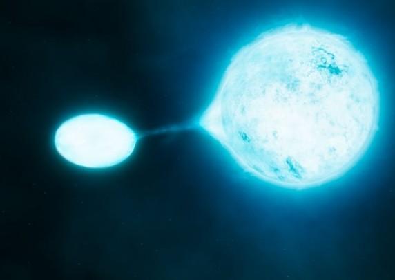 Двойная система звезд-гигантов