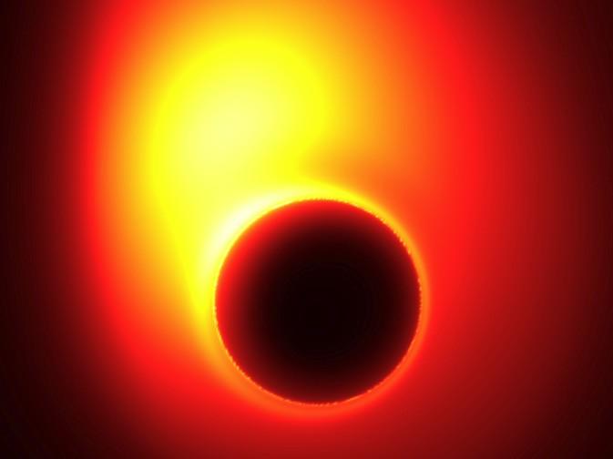 Компьютерная модель сверхмассивной черной дыры в M87