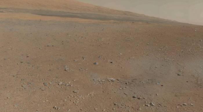 Фрагмент панорамы кратера Гейла.